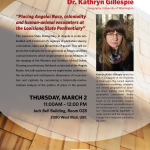 Upcoming Event: Dr. Katie Gillespie March 3rd
