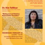 Past Event: Dr. Kim TallBear February 24th